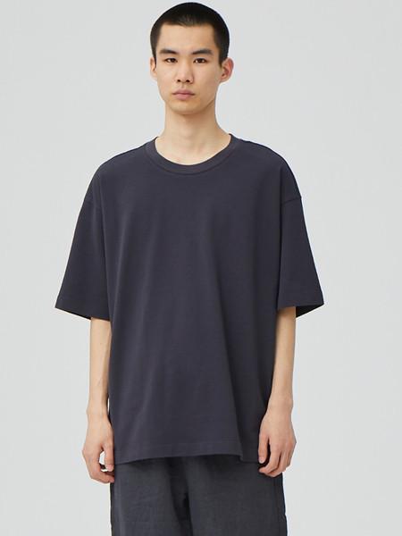 单农男装品牌2020秋季潮流黑色圆领T恤