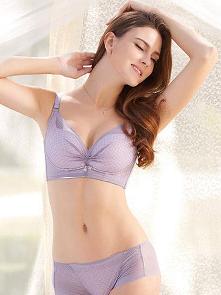 吉芝奴内衣品牌2020秋季紫色潮流内衣套装