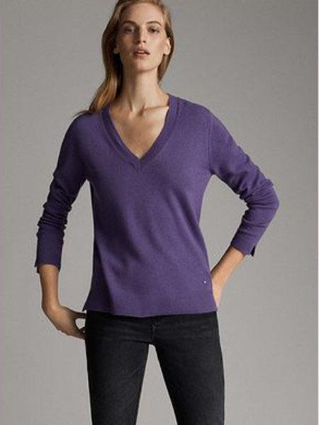 luckybrand国际品牌2021春夏紫色轻薄衬衫