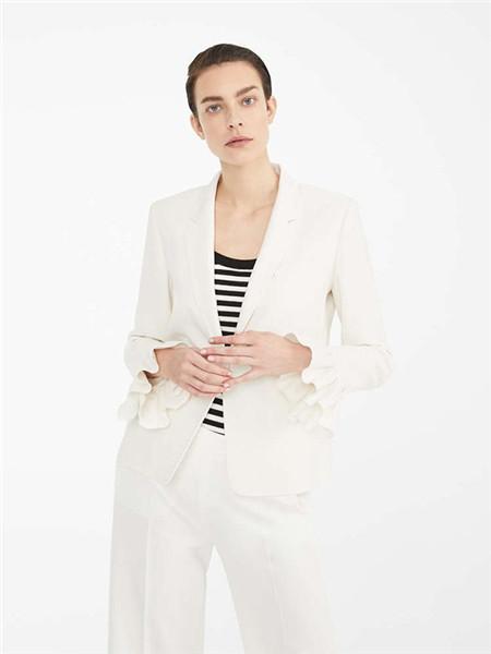 Max Mara女装品牌2020秋冬小清新白色西装外套