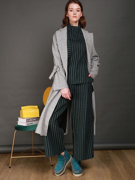 卡榭女装品牌2020秋季淑女灰色长款外套