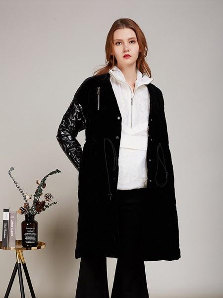 卡榭女装品牌2020秋季潮流黑色外套
