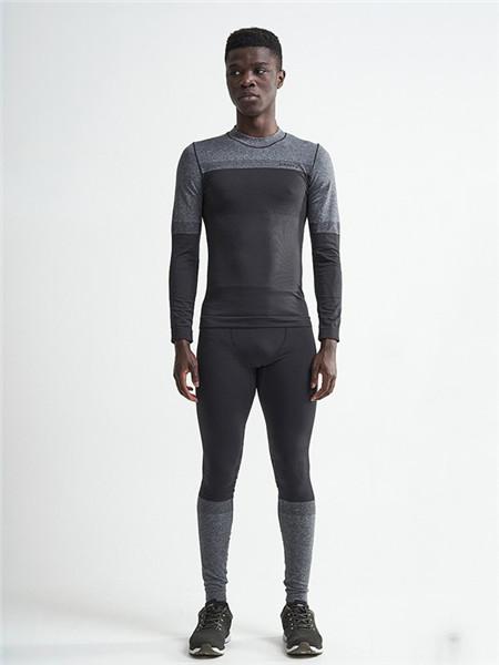 CRAFT运动装男装品牌2020秋季灰色紧身T恤