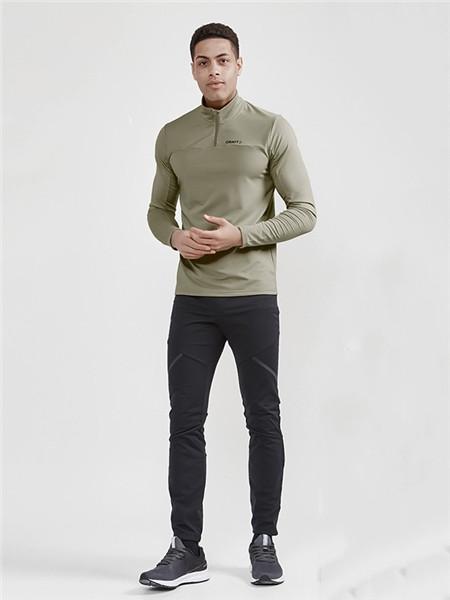 CRAFT运动装男装品牌2020秋季青色修身运动上衣