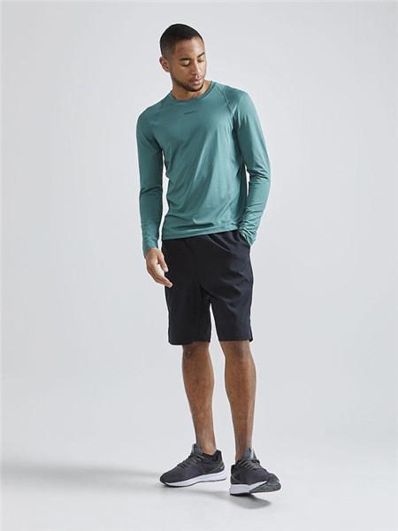 CRAFT运动装男装品牌2020秋季圆领青色T恤