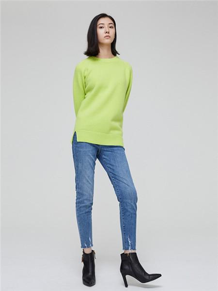 Me&City女�b品牌2020秋季�O�青色�A�I��衫
