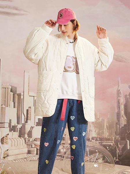 SENCELA休闲品牌2020秋冬纯白色羽绒外套