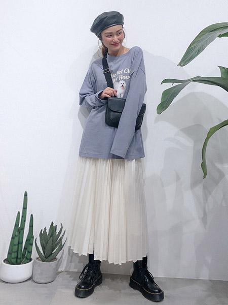 wcloset2020秋冬白色纱裙