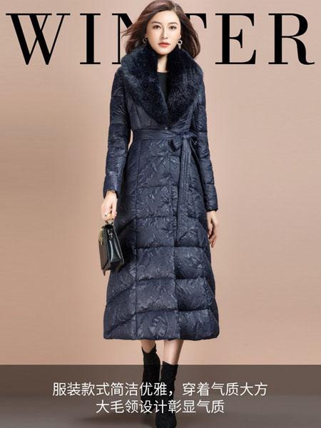 纳绎女装品牌2020秋冬黑色长款大衣