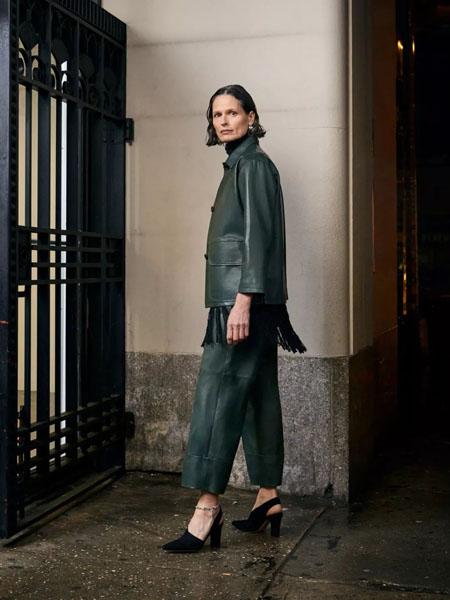 rachelcomey国际品牌2020秋季时尚深绿色外套