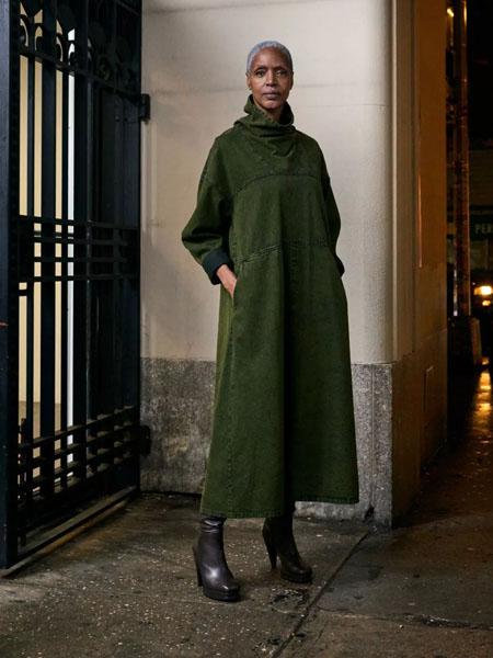 rachelcomey国际品牌2020秋季潮流深绿长款外套