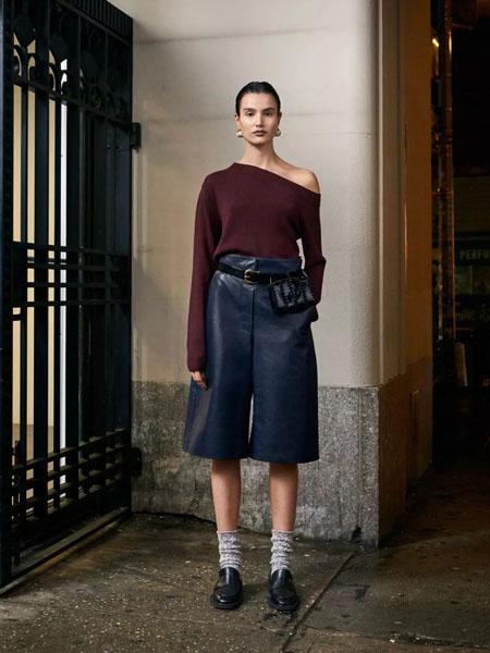 rachelcomey国际品牌2020秋季褐色长袖针织衫
