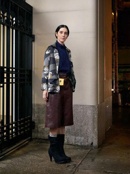 rachelcomey国际品牌2020秋季印花个性外套