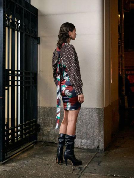 rachelcomey国际品牌2020秋季波点长袖上衣