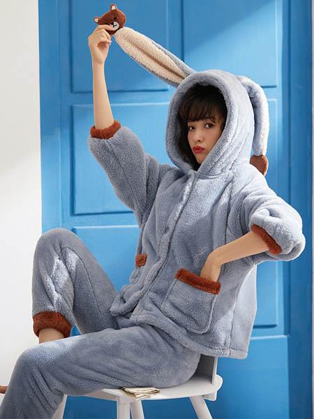 芬腾可安内衣品牌2020秋冬兔子耳朵家居服