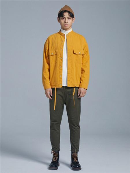 BSIJA男装品牌2020秋季黄色时尚长袖外套