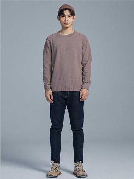 BSIJA男装品牌2020秋季圆领纯色针织衫