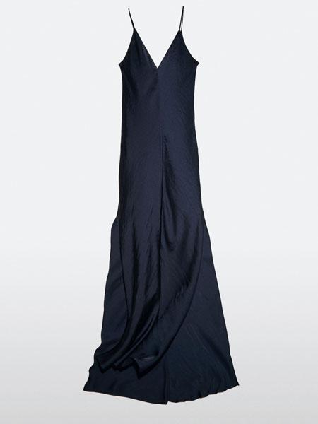 jcobando国际品牌2020秋季吊带黑色睡裙