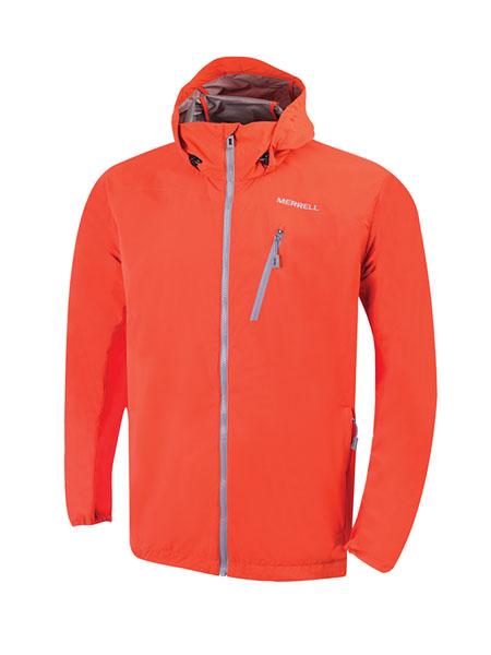merrell国际品牌2020秋冬橘色长袖冲锋衣