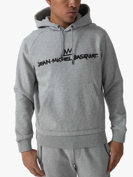 seanjohn国际品牌2020秋季灰色字母连帽卫衣