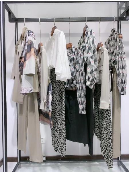 芙纯2020夏装新款连衣裙品牌折扣女装工厂直销货源走份打包批发