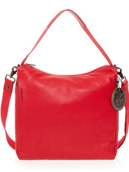 mandarinaduck国际品牌2020秋季红色皮革购物挎包