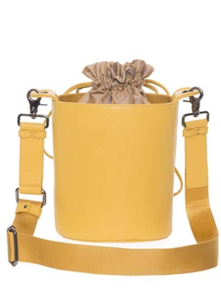 mandarinaduck国际品牌2020秋季黄色水桶包