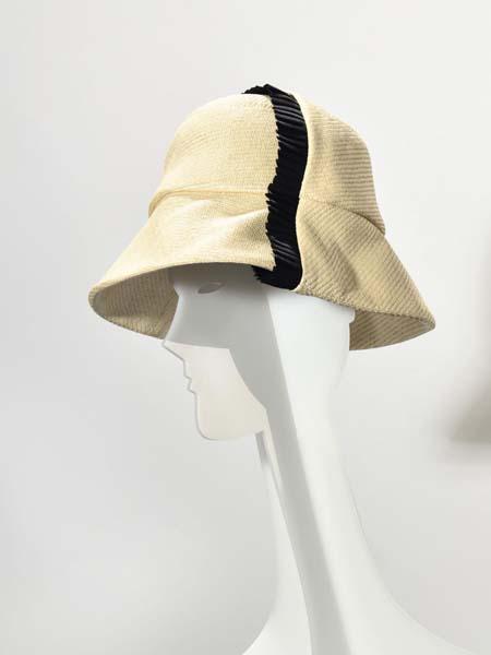 Stephen Jones鞋帽/领带品牌2020秋季米色遮阳帽