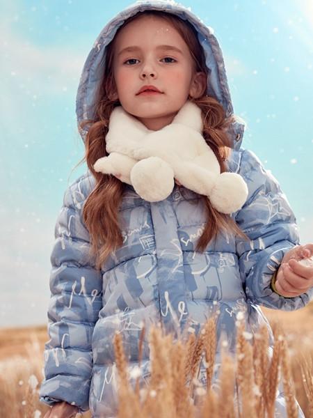 蒙蒙摩米 mesamis童装品牌2020秋冬蓝色潮流带帽羽绒服