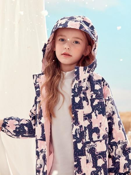 蒙蒙摩米 mesamis童装品牌2020秋冬印花童趣粉色双面外套