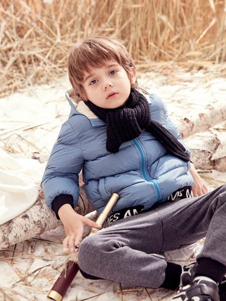 蒙蒙摩米 mesamis童装品牌2020秋冬蓝色保暖羽绒服
