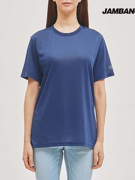 jambangee国际品牌2020秋季复古蓝色圆领T恤