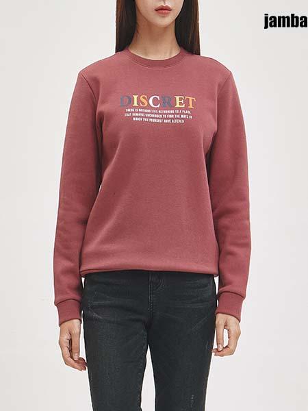 jambangee国际品牌2020秋季红色字母保暖上衣
