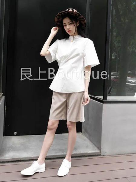 艮上女装品牌2020春夏白色衬衫