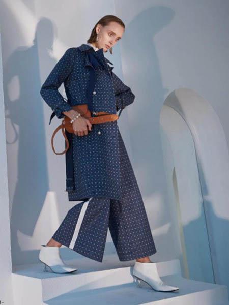 EJNK女装品牌2020秋冬斑点纹套装