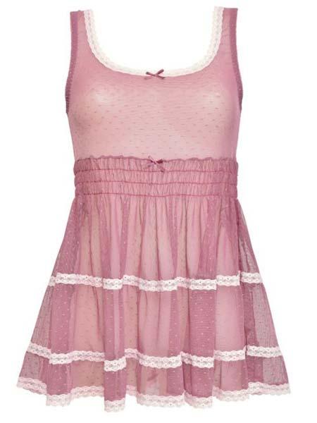 verdissima国际品牌2020秋季粉色无袖睡裙