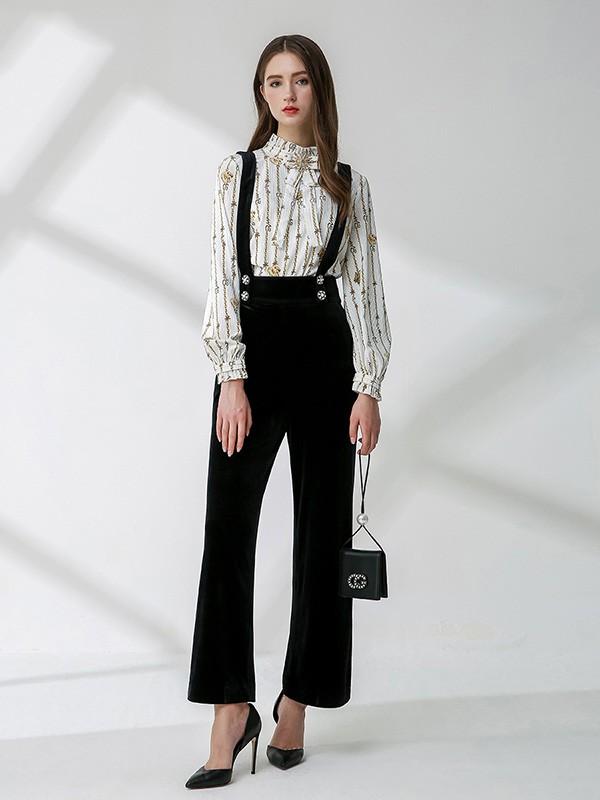 Coven Garden哥文花园女装品牌2020秋冬背带裤