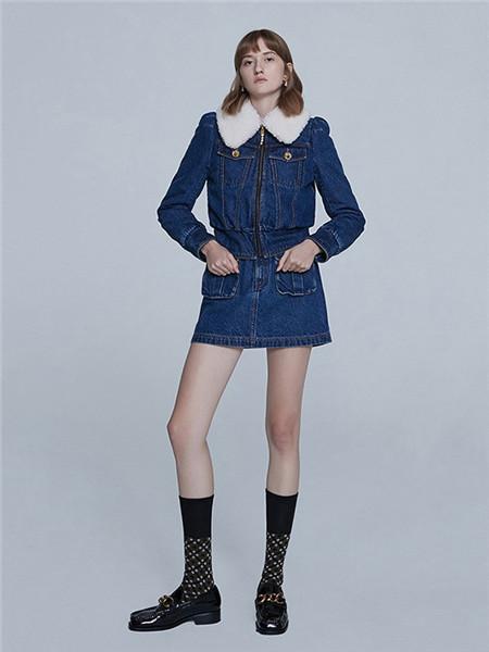 jorya卓雅女装品牌2020秋冬保暖牛仔蓝色外套