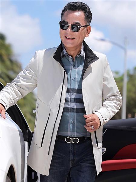 培蒙男装品牌2020秋冬英伦白色外套