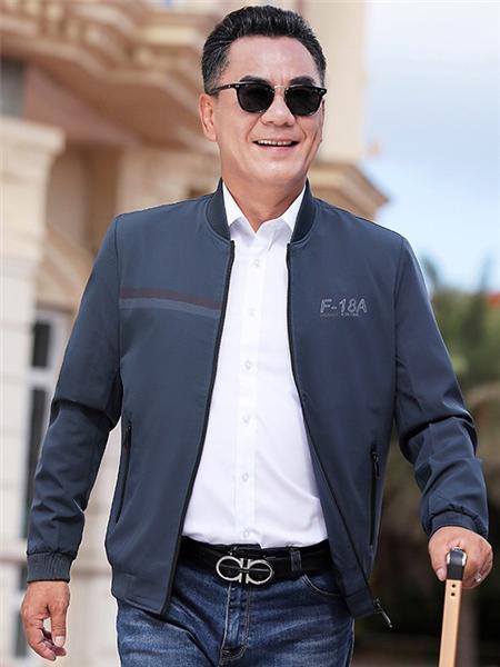 培蒙男装品牌2020秋冬舒适黑色字母外套