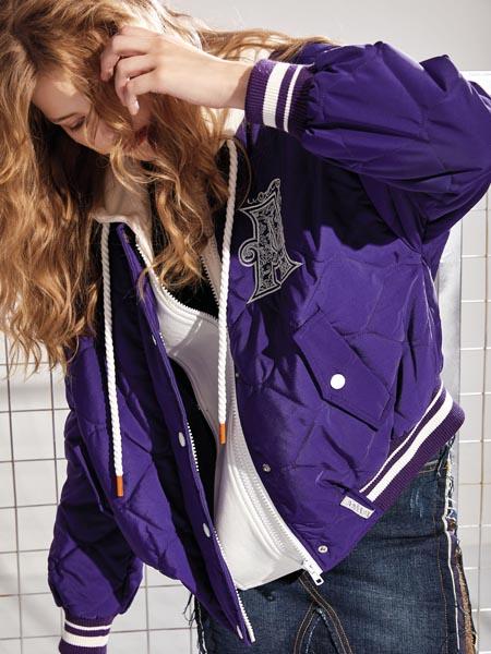 AttinaLife阿缇娜女装品牌2020秋冬紫色外套