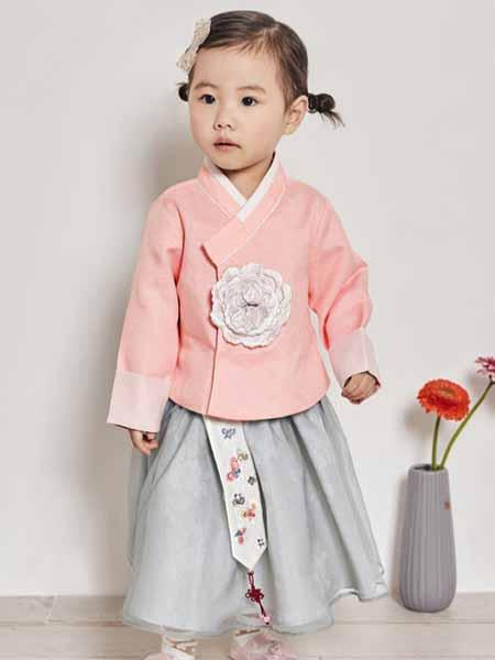 davebella戴维贝拉童装品牌2020秋冬绣花粉色外套