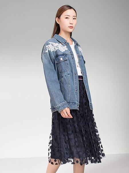 巧帛 - chaber女装品牌2020秋冬印花牛仔外套