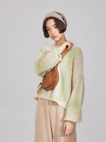 羽涵茜女装品牌2020秋冬渐变色羊绒卫衣