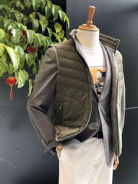 VSKONNE男装品牌2020秋冬藏青色定制马甲
