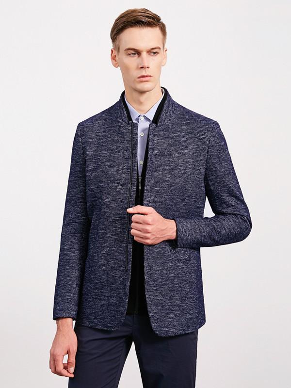 沙驰国际男装品牌2020秋冬棉麻西装外套