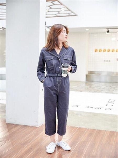 汀丁可女装品牌2020秋季牛仔套装
