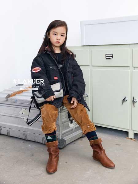 LAKUER拉酷儿童装品牌2020秋冬潮流印花女童牛仔外套