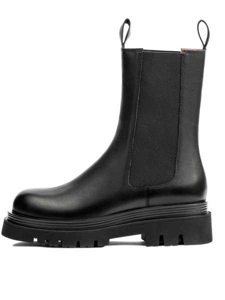 红蜻蜓鞋帽/领带品牌2020秋冬女士切尔西 烟囱靴