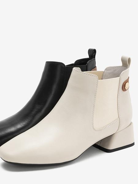 TATA他她鞋帽/领带品牌2020秋冬专柜同款切尔西靴百搭时装靴潮方头踝靴烟筒靴